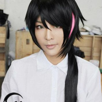 Anime RWBY WIKI Lie Ren Wig Heat Resistant Synthetic Hair Cosplay Wigs + Wig Cap + Track No.