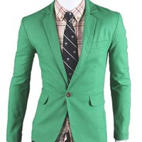 TM Mens Quality Bright One Button Formal Dress Suit Blazer Coats