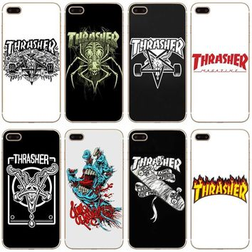 H321 Thrasher Transparent Hard Thin Case Cover For Apple iPhone 4 4S 5 5S SE 5C 6 6S 7 Plus