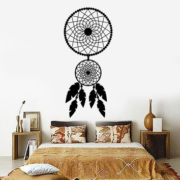 Vinyl Wall Decal Dreamcatcher Bedroom Art Decor Dream Catcher Stickers Unique Gift (ig3447)