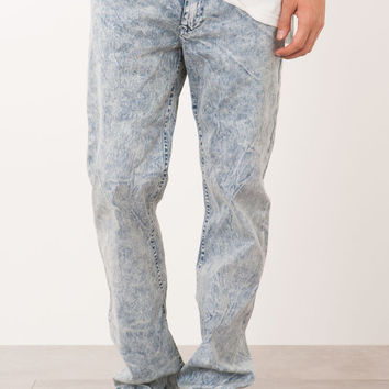 BLUE ACID WASH DENIM SLIM-FIT JEAN