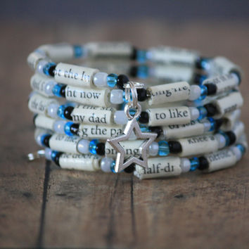 The Fault in Our Stars Book Bead Charm Bracelet