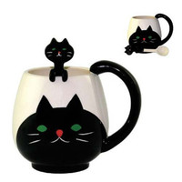 Cat Mug with Spoon - The Afternoon