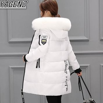Long Winter Jackets For Women 2018 Fashion Winter Jackets Lady High-end Down Cotton Jackets Women Warm Cotton Coat Women clothes