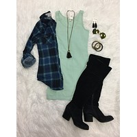 Basic Tank Dress: Mint