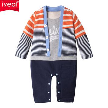 New Fashion Toddler Baby Rompers Cotton Knit Two Pieces Infant Jumpsuits Boy Clothing Sets Newborn Baby Clothes