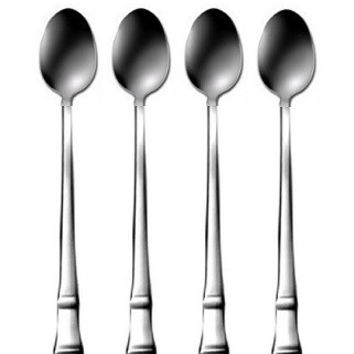 Oneida Coronet Silverplate Set of 4 Iced Tea Spoons