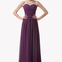 Purple Off Shoulder Ruched Lace Up Back Maxi Dress