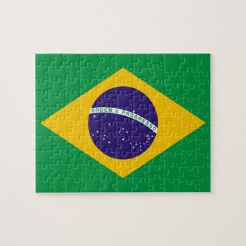 Puzzle with Flag of Brazil