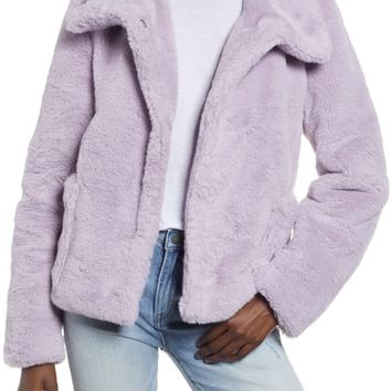 Leith Fur-Fect Faux Fur Jacket | Nordstrom