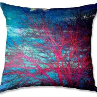 Decorative Outdoor Patio Couch Throw Pillows from DiaNoche Designs BBQ Garden Outdoor Ideas by Sylvia Cook Unique - Abstract Tree II