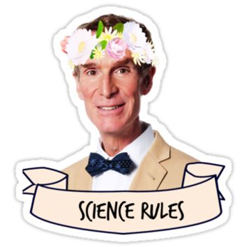 'Bill Nye Science Rules' Sticker by dragon-s