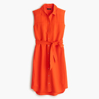 J.Crew Womens Belted Oxford Dress