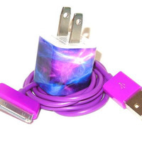 Galaxy Design IPhone Charger  (Charger Adapter works with all iPhone Versions including iPhone 5)