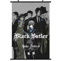 1 X Black Butler Anime Wall Scroll Poster (16''*24'') Support Customized