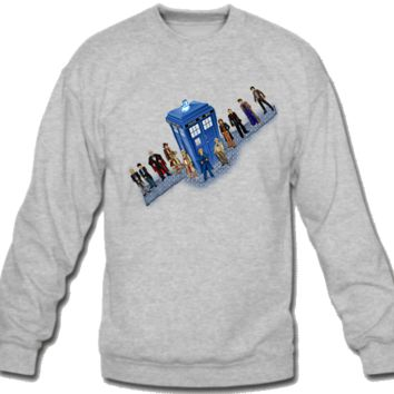 DOCTOR WHO POLICE BOX CHARACTERS Sweatshirt Crew Neck