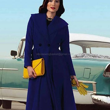 Gorgeous Retro Coat Pattern, Butterick 5824 Plus Sizes