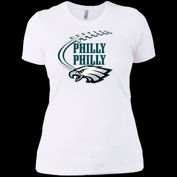 Philly Philly Football Swoosh NL3900 Next Level Ladies' Boyfriend T-Shirt