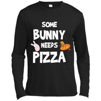 Cute Gift Ideas For Easter. Costume For Pizza Lover. Long Sleeve Moisture Absorbing Shirt