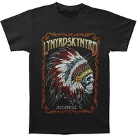 Lynyrd Skynyrd Men's  Indian Skeleton Regular Mens T T-shirt Black