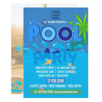 Corporate/Club Summer Pool Party Invitation