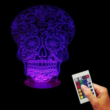 Sugar Skull LED Color Changing Light