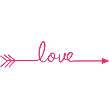 Love Arrow Decal Vinyl Wall Sticker