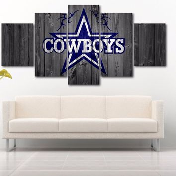 Dallas Cowboys Barn Wood Style Framed Canvas