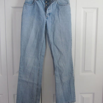Vintage Button Fly Jeans, J Crew High Waisted Jeans, Mom Jeans, High Waist Denim Jeans, Size 4 Made in USA Waist 29 Hipster Boyfriend