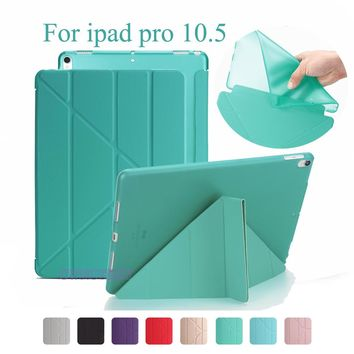 Ultra Thin Stand Design PU Leather case For Apple ipad Pro 10.5 2017 Cover Colorful Flip Smart Cover Magnet wake up sleep+pen