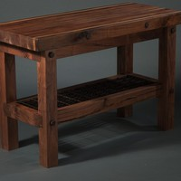 Black Walnut and Iron Butcher's Block - Contemporary - Kitchen Islands And Kitchen Carts - nashville - by Walnut Wood Works