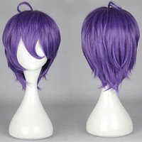 Synthetic Short Wigs Straight Fashion KasenKanesada WIG Lolita Full Lace Bog Wigs Style For Anime Cosplay/Party,Colorful Candy Colored synthetic Hair Extension Hair piece 1pcs WIG-579L