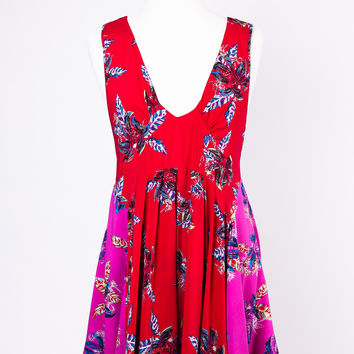 Free People Thought I was Dreaming Dress in Red