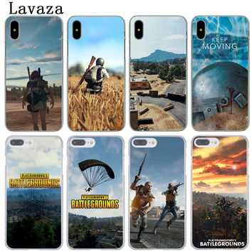 Lavaza Playerunknown's Battlegrounds PUBG Hard Phone Coque Shell Case for Apple iPhone X 10 8 7 6 6S Plus 5 5S SE 5C 4 4S Cover