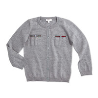 Long-Sleeve Wool Button-Front Cardigan, Size 6-36 Months,