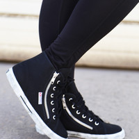 Superga Classic High-Tops {Black}