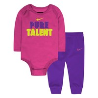Nike ''Pure Talent'' Bodysuit & Jogger Pants Set - Baby Girl, Size: