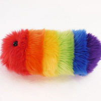Rainbow Caterpillar Fuzzy Stuffed Toy Snuggle Worm Plushie
