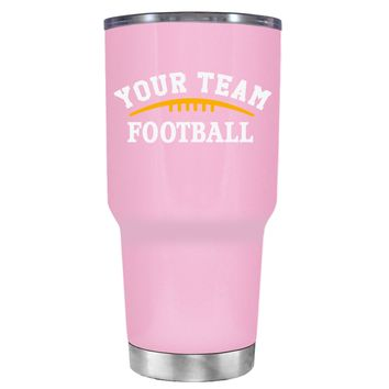 TREK Custom Football Team on Pretty Pink 30 oz Tumbler Cup