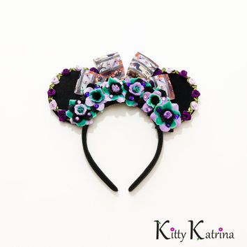 Haunted Mansion Mouse Ears Headband, Haunted Mansion Ears, Disneyland, Disney World, Disney Halloween Ears, Minnie Halloween Ears