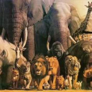Safari Ltd. Wild Animal - Laminated Rolled and Tubed Poster