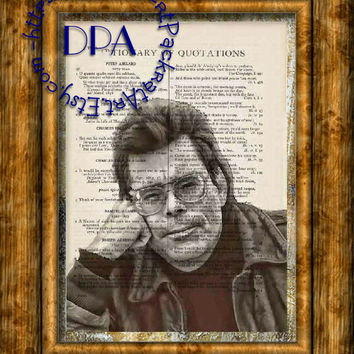 Gothic Horror Author Stephen King Drawing Art - Vintage Dictionary Page Art Print Upcycled Page Print