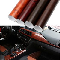 30*100cm Car Wrap Film Auto Decors Protective Wood Grain Textured Car Styling 3D Car Stickers and Decals PVC DIY  Decoration