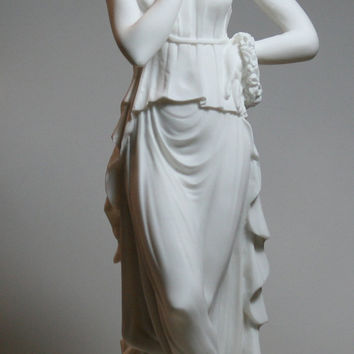 PERSEPHONE Goddess Queen of the underworld LARGE Alabaster Sculpture Statue 16.5in - 42cm **Free Shipping & Free Tracking Number**
