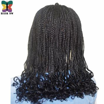 HAIR SW Box Braids  Curls At End Synthetic Lace Front wigs