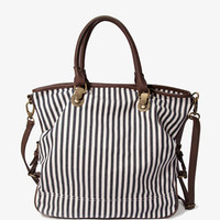 Faux Leather-Trimmed Railroad Crossbody