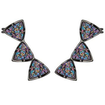 Natalie Ear Cuffs in Multi-Color Drusy - Kendra Scott Jewelry
