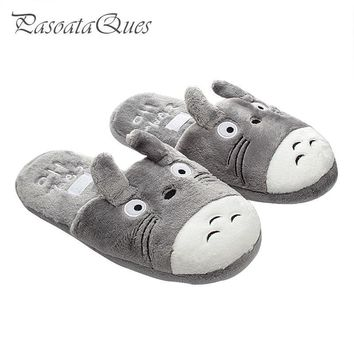 Totoro Cute Cat Cartoon Animal Women/men Couples Home Slipper For Indoor House Bedroom