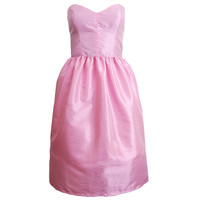 Pink Bell Shape Party Prom Dress