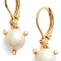 kate spade new york 'rise and shine' faux pearl lever back earrings | Nordstrom